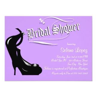Lavender High Heels Bridal Shower Invitations