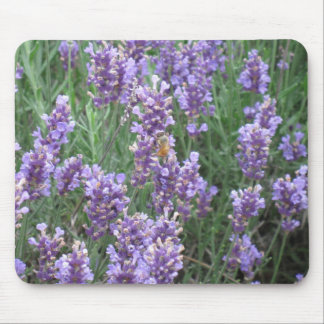 Lavender Honey Bee Mouse Pad