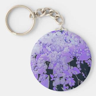 Lavender Hops Basic Round Button Keychain