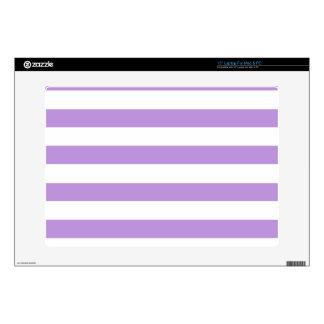 "Lavender Horizontal Stripes; Striped 15"" Laptop Decal"