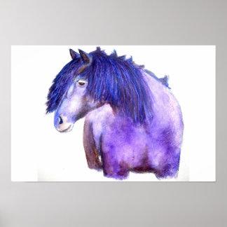 Lavender Horse Poster
