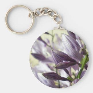 Lavender Hosta blooms Basic Round Button Keychain