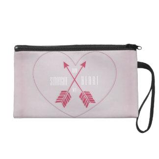 Lavender & hot pink criss-crossed arrows wristlet purse