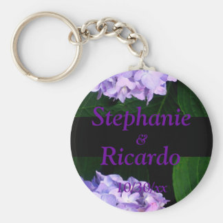 """Lavender Hydrangea"" [b] Keychain"