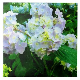 Lavender Hydrangea in Garden Ceramic Tile