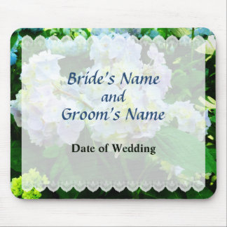 Lavender Hydrangea in Garden Wedding Favor Mouse Pad
