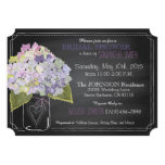 Lavender Hydrangea Jar Chalkboard Bridal Shower Card