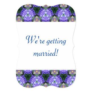 Lavender Hydrangea Kaleidoscope Ball Card