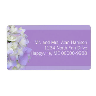 Lavender Hydrangea Large Shipping Address Labels