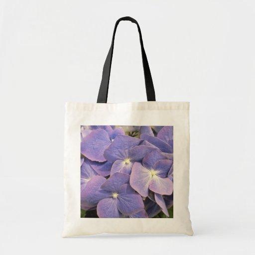 Lavender Hydrangea Macrophylla 'Enziandom' flowers Canvas Bags