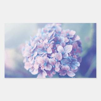 Lavender Hydrangea Rectangular Sticker