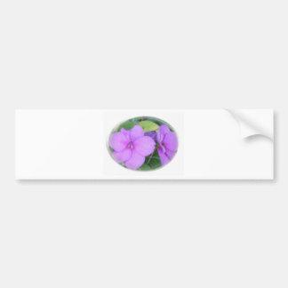 Lavender Impatients in Swirl Bumper Sticker