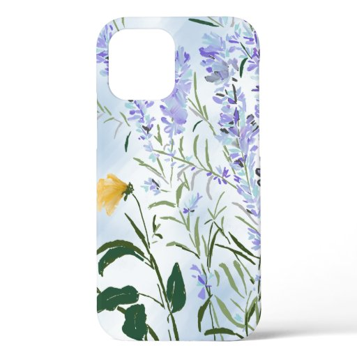 Lavender impression iPhone case