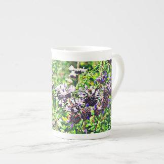 Lavender in Chrome Bone China Coffee Cup
