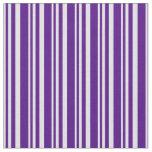 [ Thumbnail: Lavender & Indigo Pattern Fabric ]