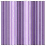 [ Thumbnail: Lavender & Indigo Stripes/Lines Pattern Fabric ]