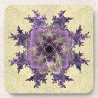 Lavender Ink Blot Beverage Coaster