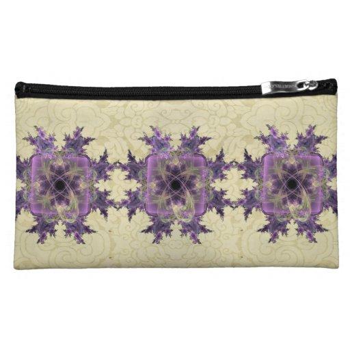 Lavender Ink Blot Cosmetic Bags