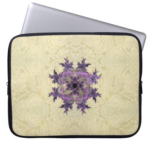 Lavender Ink Blot Laptop Sleeves