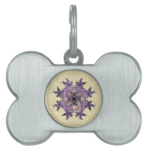 Lavender Ink Blot Pet Tag