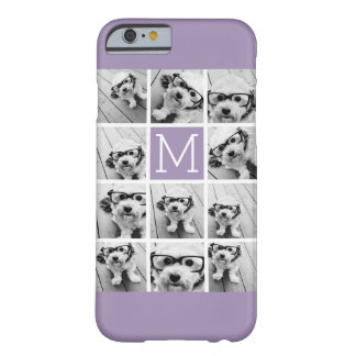 Lavender Instagram Photo Collage Custom Monogram Barely There iPhone 6 Case