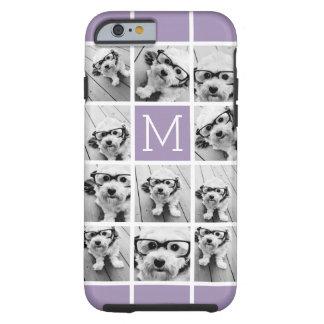 Lavender Instagram Photo Collage Custom Monogram Tough iPhone 6 Case
