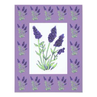 Lavender Invitation