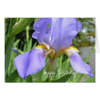 Lavender Iris Birthday Card