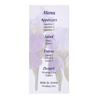 Lavender Iris Couple Wedding Menu