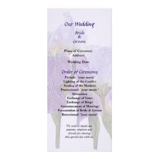Lavender Iris Couple Wedding Program
