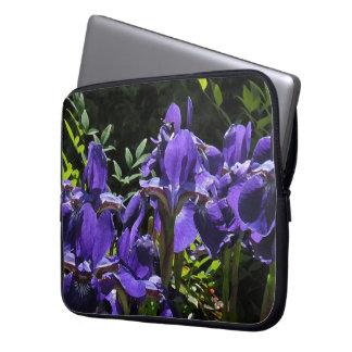 Lavender Iris Laptop Travel Sleeve
