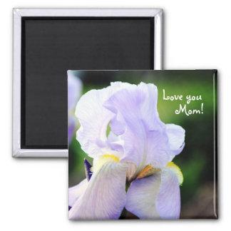 Lavender Iris Mom Magnet