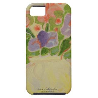 Lavender Irises in Vase iPhone 5 Case. iPhone SE/5/5s Case