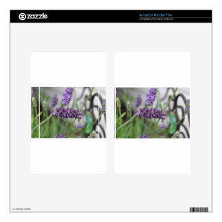 Lavender Iron Kindle Fire Skin