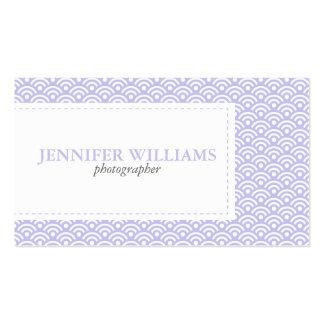 Lavender Japanese Seigaiha Pattern Business Card