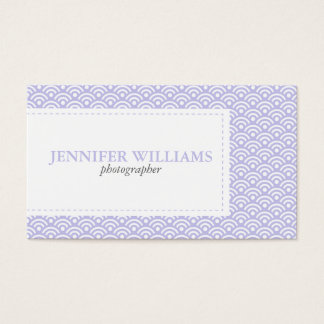 Lavender Japanese Seigaiha Pattern Business Card