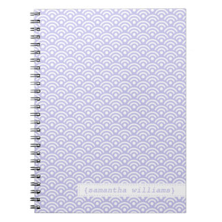 Lavender Japanese Seigaiha Pattern Notebook