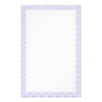 Lavender Japanese Seigaiha Pattern Stationery