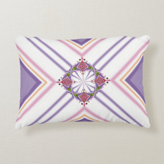 Lavender jump; Energetic Midday Accent Pillow