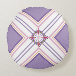 Lavender jump; Energetic Midday Round Pillow