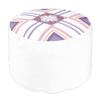 Lavender jump; Energetic Midday Round Pouf