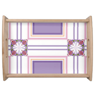 Lavender jump; Energetic Midday Serving Tray
