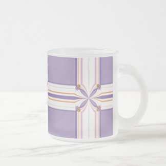 Lavender jump; New Day Frosted Glass Coffee Mug