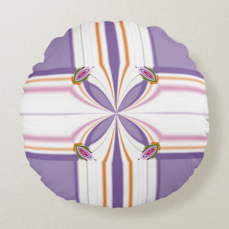 Lavender jump; New Day Round Pillow