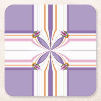 Lavender jump; New Day Square Paper Coaster