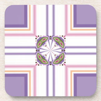 Lavender jump; Pleasant Evening Beverage Coaster