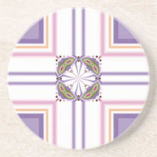 Lavender jump; Pleasant Evening Drink Coaster