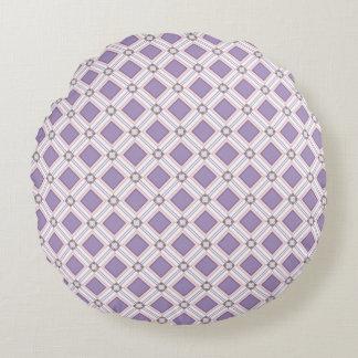 Lavender jump; Pleasant Evening Round Pillow