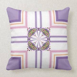 Lavender jump; Pleasant Evening Throw Pillows