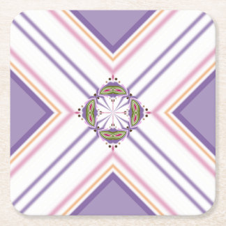 Lavender jump; Pleasant Evening Square Paper Coaster